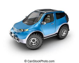 offroad, automobile, concept., mio, proprio, design.