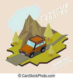 Offroad Car Isometry