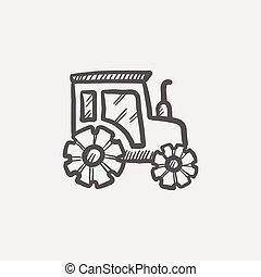 Offroad car sketch icon
