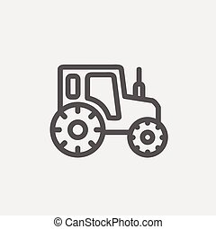 Offroad car thin line icon