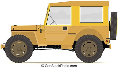 Offroad - Cartoon off road car. Vector without gradients.