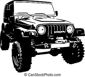Offroad vehicle in black color