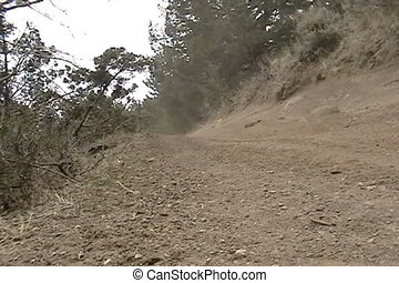 offroad up hill  - enduro trail ride to ghost town