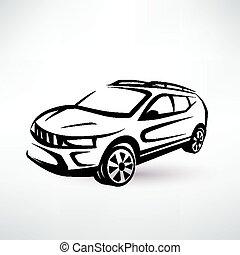 Voiture croquis sport illustration clipart vectoriel rechercher illustration dessins et - Croquis voiture ...
