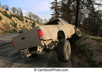 Offroading on a hill