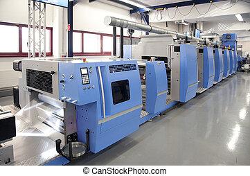 offset, imprensa, imprimindo