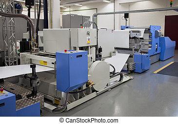 offset, imprensa, imprimindo, para, etiquetas