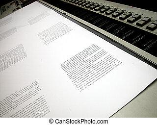 offset, impresso, folha