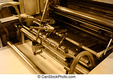 Offset printing machine - Offset machine in printing house, ...