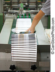 Offset Printing process - Print shop - Finishing line. Post...
