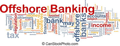 Offshore banking background concept