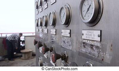 Offshore gas production platform equipment