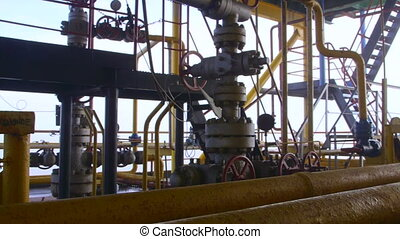 Offshore gas production platform components series of pipes,...