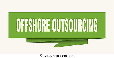 offshore outsourcing sign. offshore outsourcing paper...