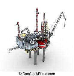 offshore platform, fúrás, elszigetelt