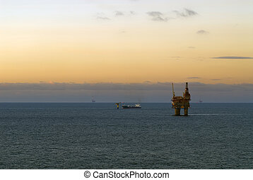 Offshore platform, north sea, norway