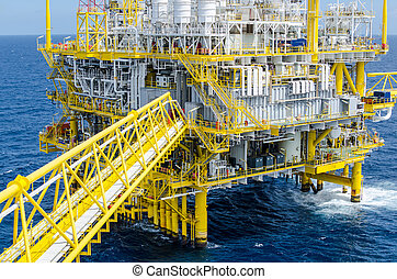 The offshore platform in the south of Thailand