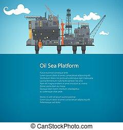 Offshore Sea Oil Platform Brochure Design