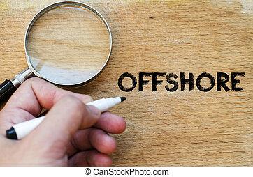 Offshore text concept