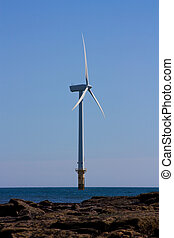 Offshore Turbine - Single offshore wind turbine part of a...