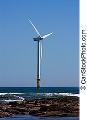 Offshore Turbine - Single offshore wind turbine part of a...