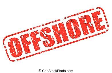offshore, vermelho, selo, texto