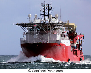 Offshore oil and gas subsea construction and support vessel.
