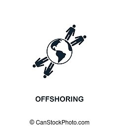 Offshoring icon. Creative element design from business strategy icons collection. Pixel perfect Offshoring icon for web design, apps, software, print usage
