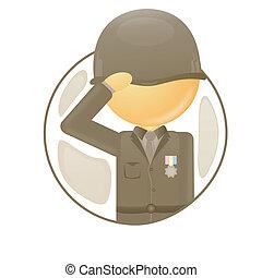 oficial, exército
