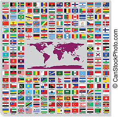 oficial, país, bandeiras