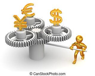 Finanzas intercambio actuaci n s mbolos moneda for Oficina de cambio