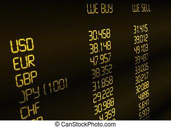 oficina de cambio, tasa
