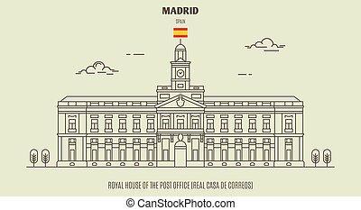 oficina, de, casa, spain., madrid, poste, (real, casa, señal...
