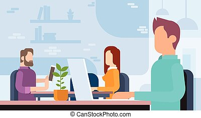 oficina de trabajo, personas empresa, coworking, lugar de trabajo, equipo