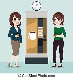 oficina, descanso para tomar café