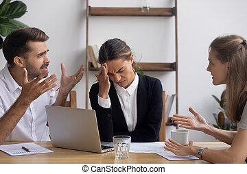 oficina, empresa / negocio, empleado, enfatizado, molestado...