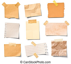oficina, papel, empresa / negocio, nota, vendimia