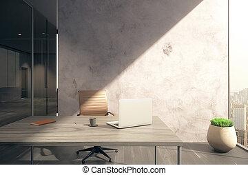 oficina, pared en blanco
