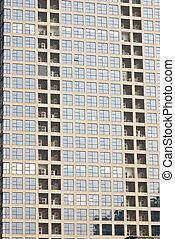 oficina, resumen, corporativo, plano de fondo, de, un, highrise, edificios