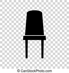 oficina, signo., fondo., negro, silla, transparente, icono