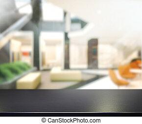 oficina, tabla, render, plano de fondo, 3d, madera, cima