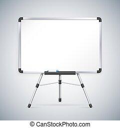 oficina, whiteboard, en, trípode