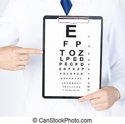 oftalmólogo, macho, eye la carta