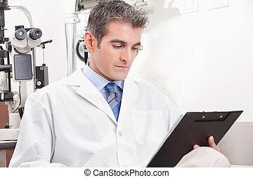 oftalmologi, klinik, läkare