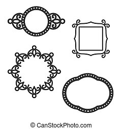 Ogee Frames for Greeting Cards or Wedding invitations
