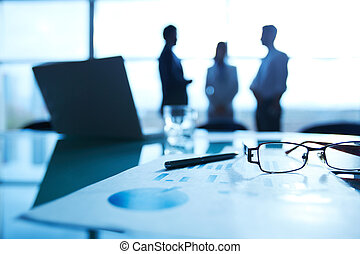 oggetti affari, su, posto lavoro