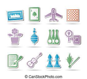 oggetti, vacanza, hobby, ozio