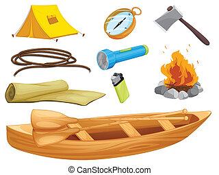 oggetti, vario, campeggiare