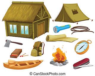 oggetti, vario, campeggio