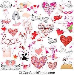 oggetto, giorno, collezione, valentine